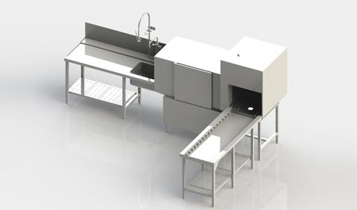 通道式洗碗机STR155