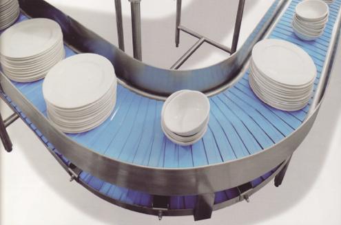 大型长龙式洗碗机板式传送带