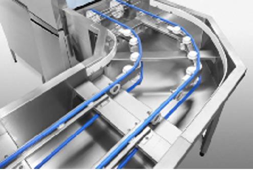 大型长龙式洗碗机绳式传送带