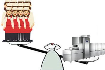 人工洗碗VS全自动食堂洗碗机
