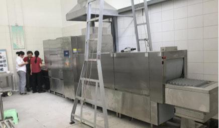 食堂洗碗机安装过程