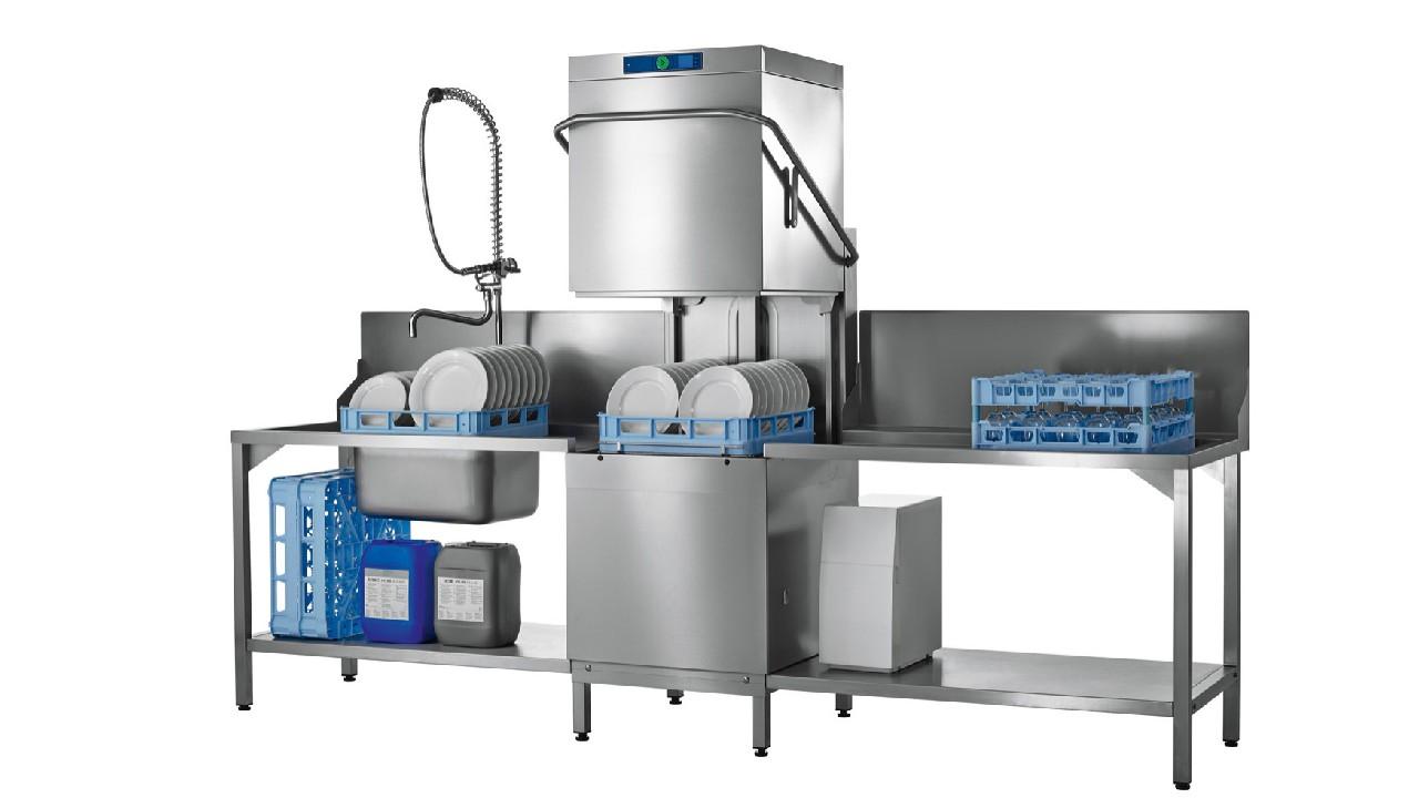 提拉式洗碗机适用于100-300人用餐