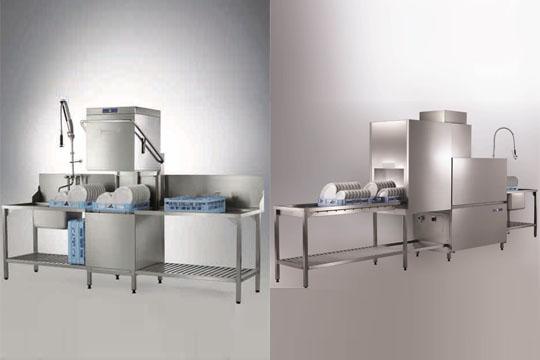 提拉式食堂洗碗机vs通道式食堂洗碗机