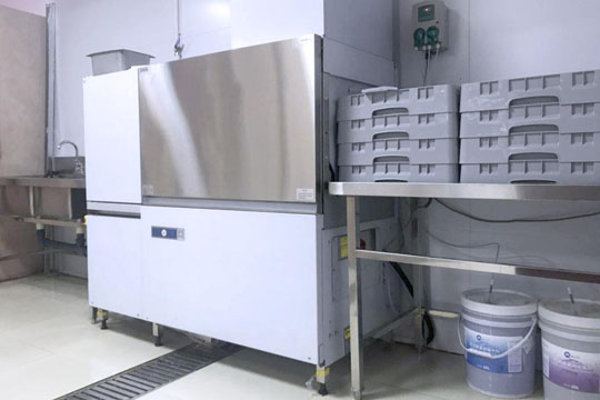 全自动食堂洗碗机租赁实例