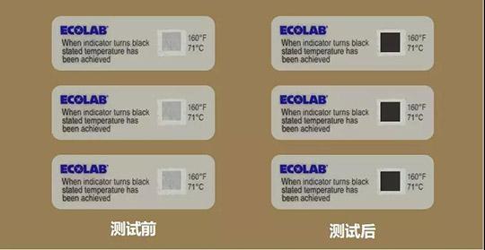 商用洗碗机71℃试纸测试法