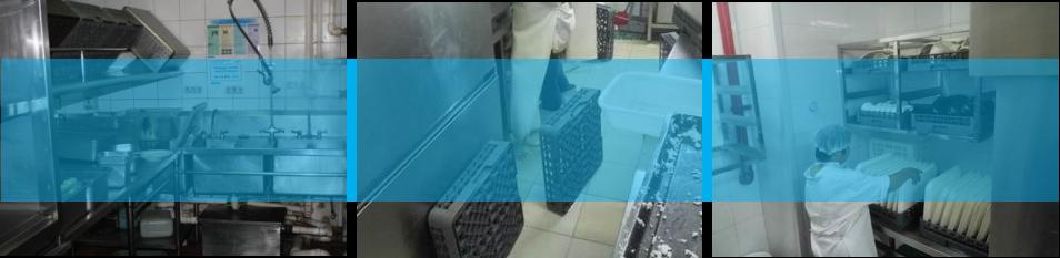 企业员工食堂洗碗机的问题