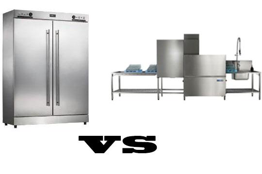 商用消毒柜VS商用洗碗机
