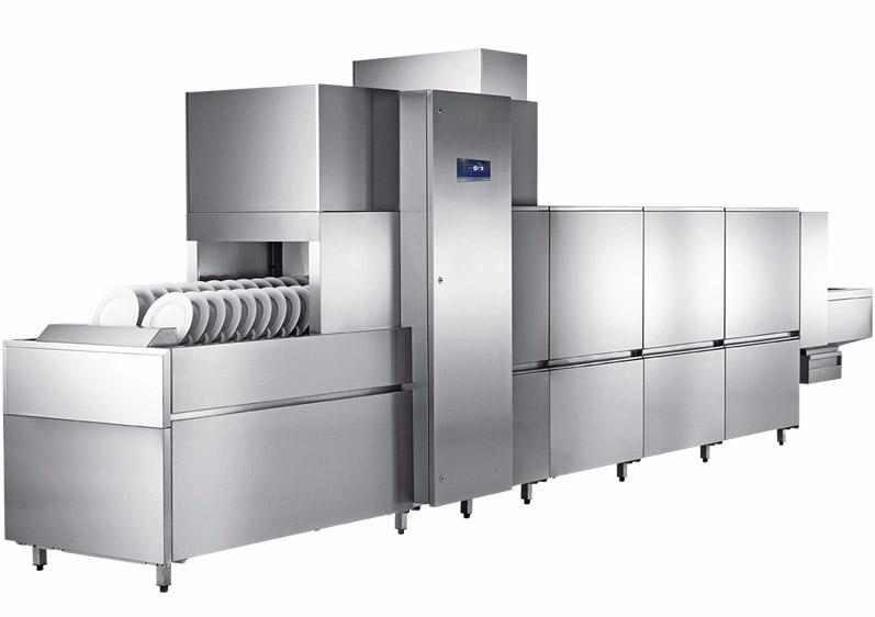长龙式洗碗机适用于1000人以上用餐